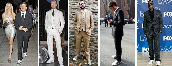 Как модно одеваться: костюм и кроссовки